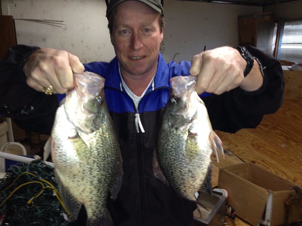 Two Trophy  Lake Lewisville Crappie
