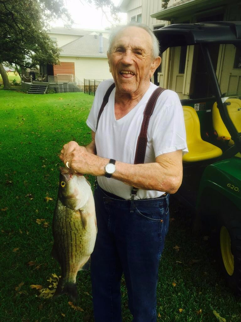 Old man and Trophy Hybrid Bass