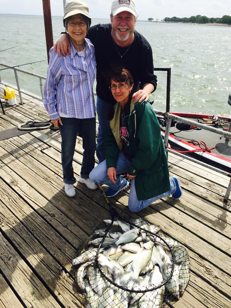 Sand Bass guided tour on lake lewisville - 4/16/2016