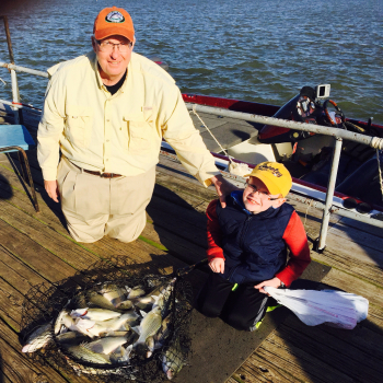 Grandpa and Grandson Lake Lewisville fishing trip - 3/25/2016
