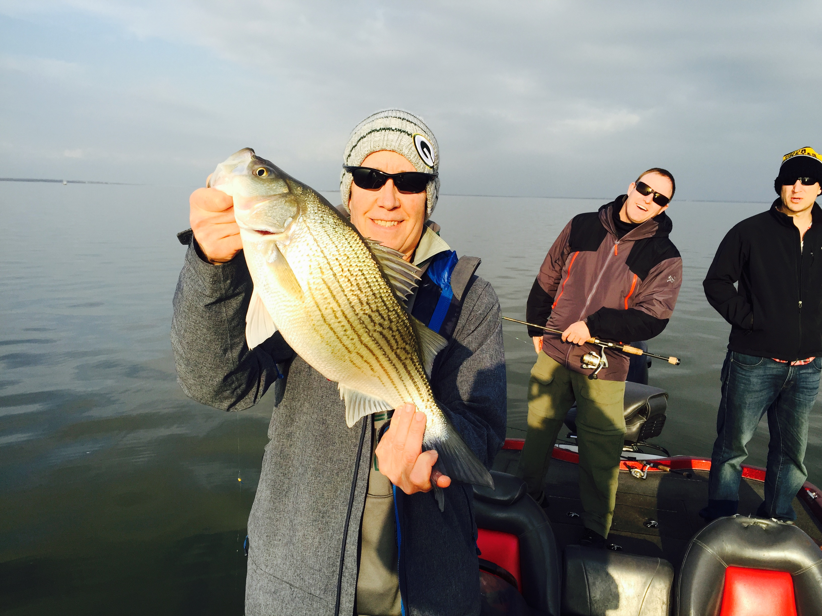 Lake Lewisville Trophy Hybrid Bass - 1/8/16